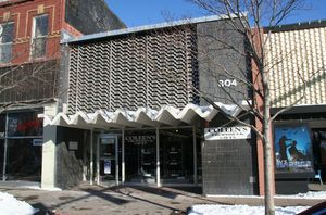 Squire Building. 304 Main St. Garden City. West elevation. 02/10/2011, Brenda Spencer.