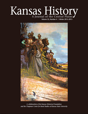 Francisco Vasquez de Coronado on the cover of Kansas History