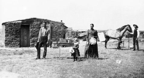 Finney County sod house, 1890s