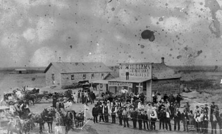 By the 1800s the town's main street had just a few buidings.
