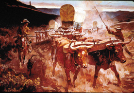 Santa Fe Trail painting