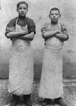 On the census, these young boys would have been listed as bakery workers.