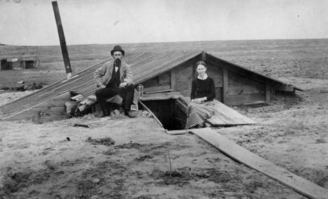 Some new immigrants lived in temporary homes underground.