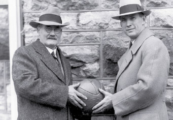 James Naismith and Forrest Phog Allen