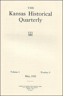 Kansas Historical Quarterly, May 1932