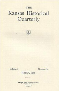 Kansas Historical Quarterly, August 1932