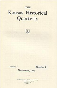 Kansas Historical Quarterly, November 1932