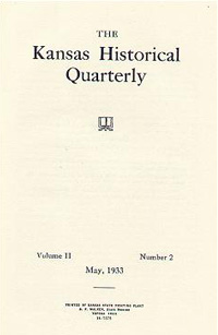 Kansas Historical Quarterly, May 1933