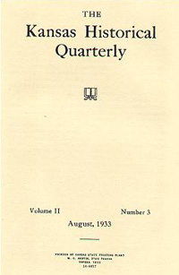 Kansas Historical Quarterly, August 1933