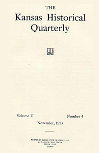 Kansas Historical Quarterly, November 1933