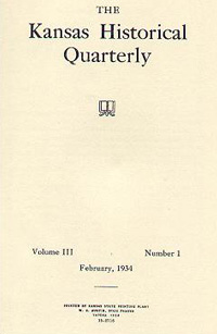 Kansas Historical Quarterly, February 1934