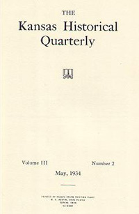 Kansas Historical Quarterly, May 1934