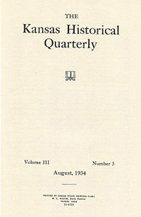 Kansas Historical Quarterly, August 1934