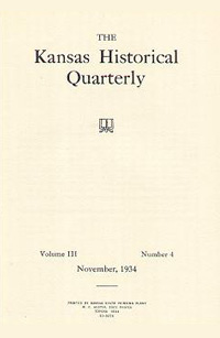 Kansas Historical Quarterly, November 1934