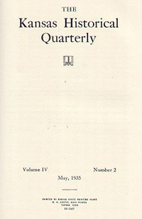 Kansas Historical Quarterly, May 1935