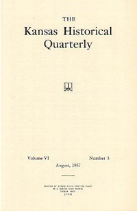 Kansas Historical Quarterly, August 1937