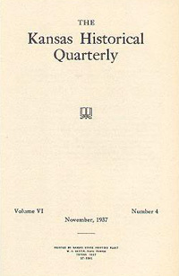 Kansas Historical Quarterly, November 1937