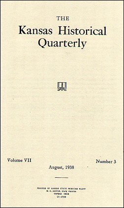 Kansas Historical Quarterly, August 1938