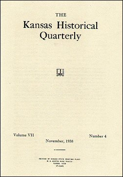 Kansas Historical Quarterly, November 1938