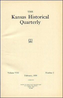 Kansas Historical Quarterly, February 1939