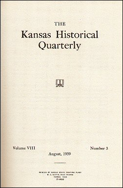 Kansas Historical Quarterly, August 1939