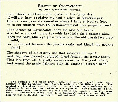 Poem by John Greeleaf Whittier; please click for text version.