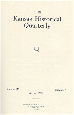 Kansas Historical Quarterly, August 1940