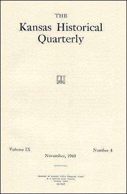 Kansas Historical Quarterly, November 1940