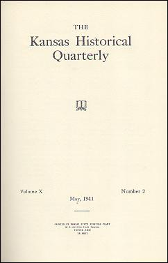Kansas Historical Quarterly, May 1941