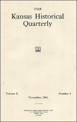 Kansas Historical Quarterly, November 1941
