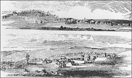 [Woodcuts of SENECA AND MARYSVILLE IN 1860]