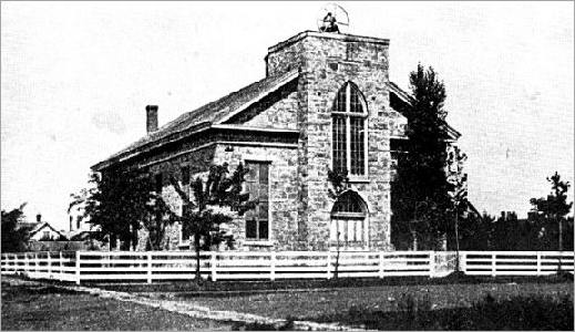 First Church Building in Topeka KS, 1857