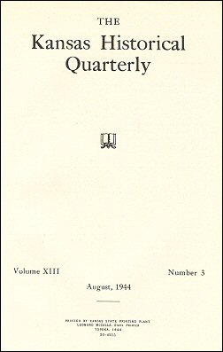 Kansas Historical Quarterly, August 1944
