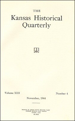 Kansas Historical Quarterly, November 1944