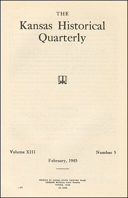 Kansas Historical Quarterly, February 1945
