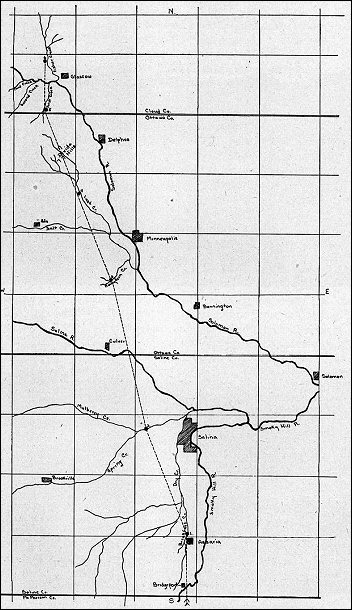 [Map of Zebulon Pike's trail]
