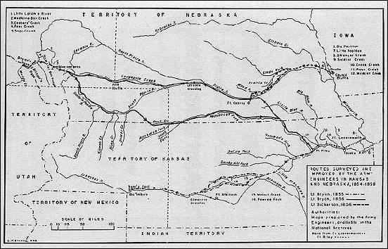 Roadbuilding in Nebraska Territory, 1855-56