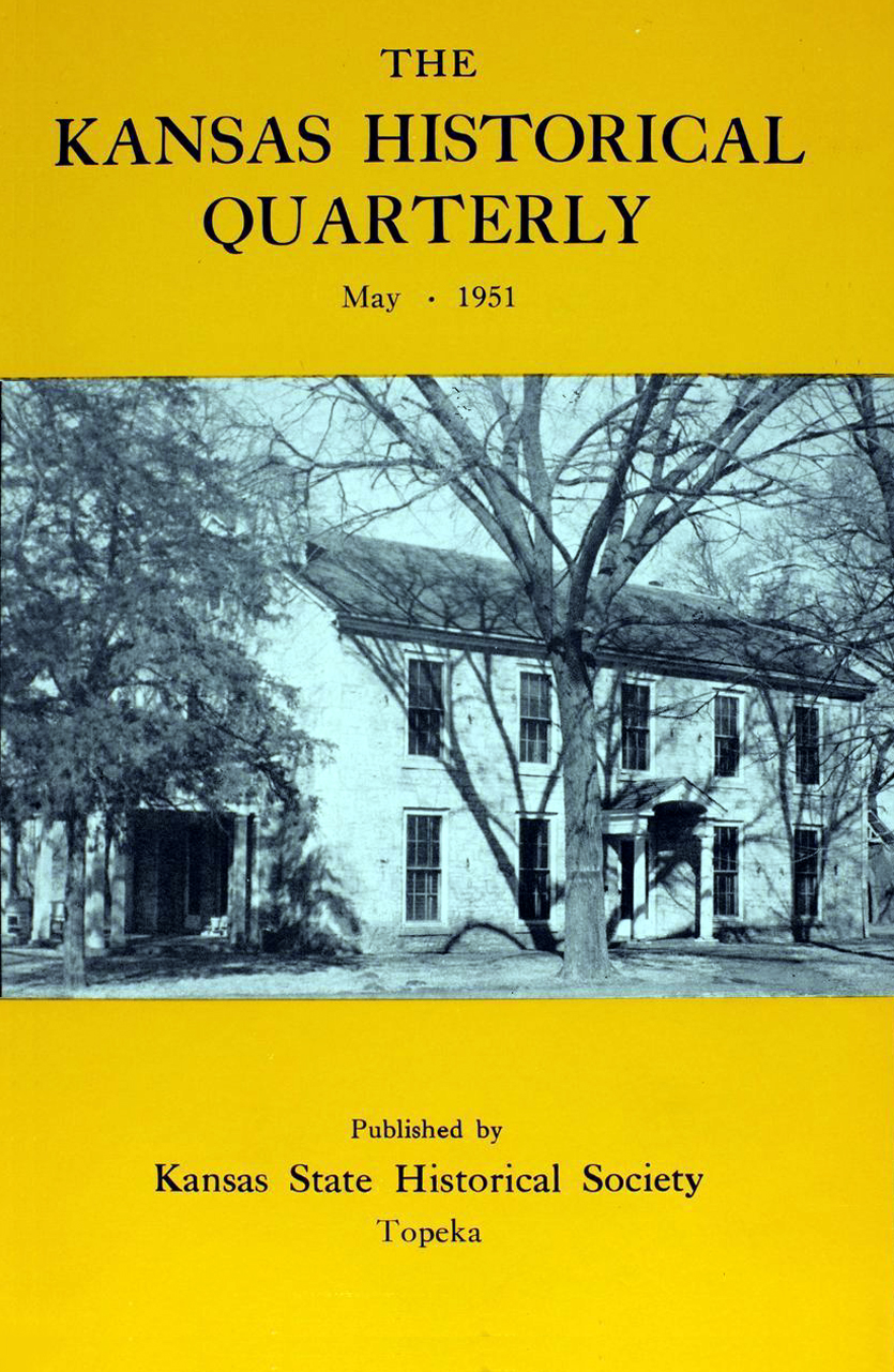 Kansas Historical Quarterly, May 1951