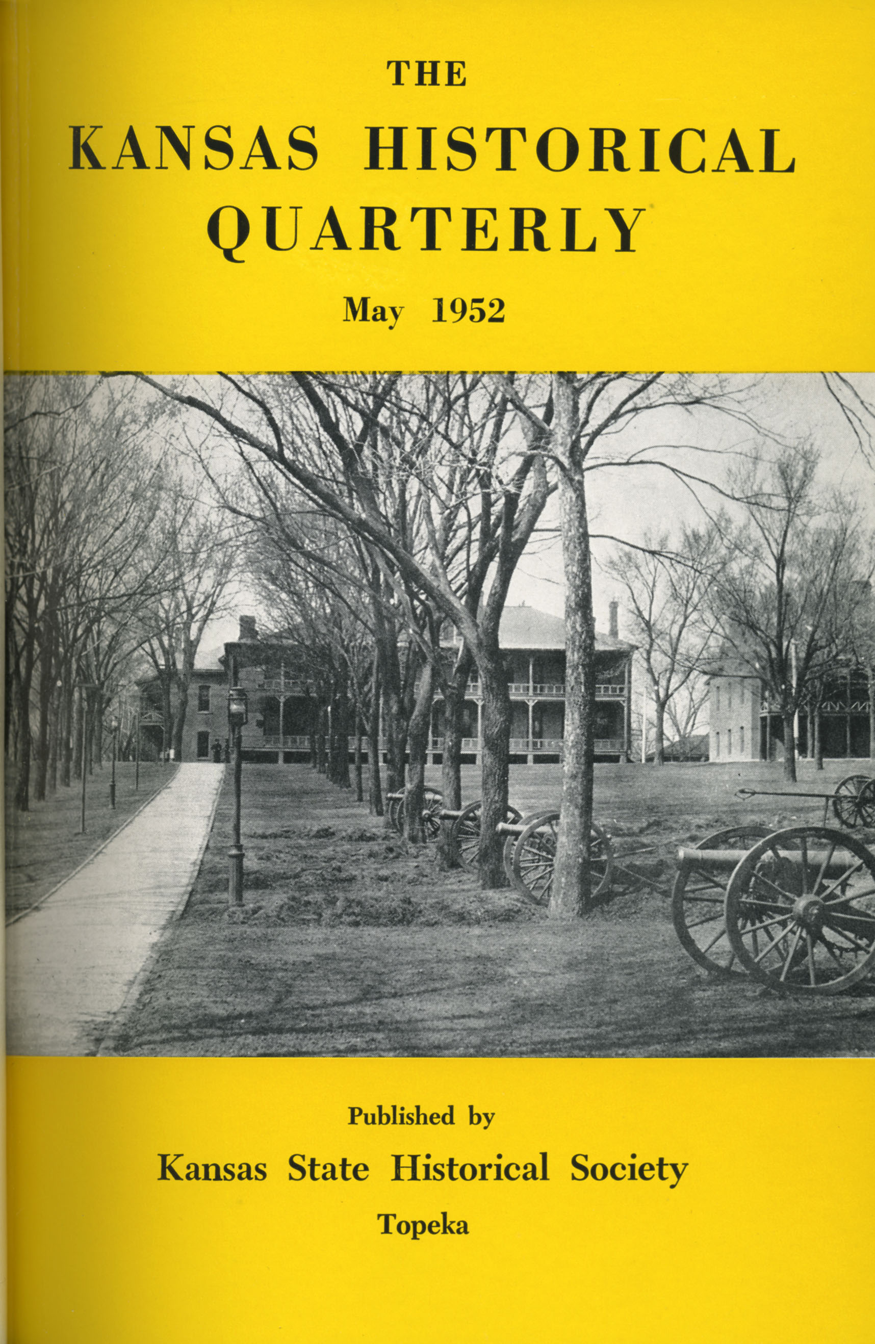Kansas Historical Quarterly, May 1952