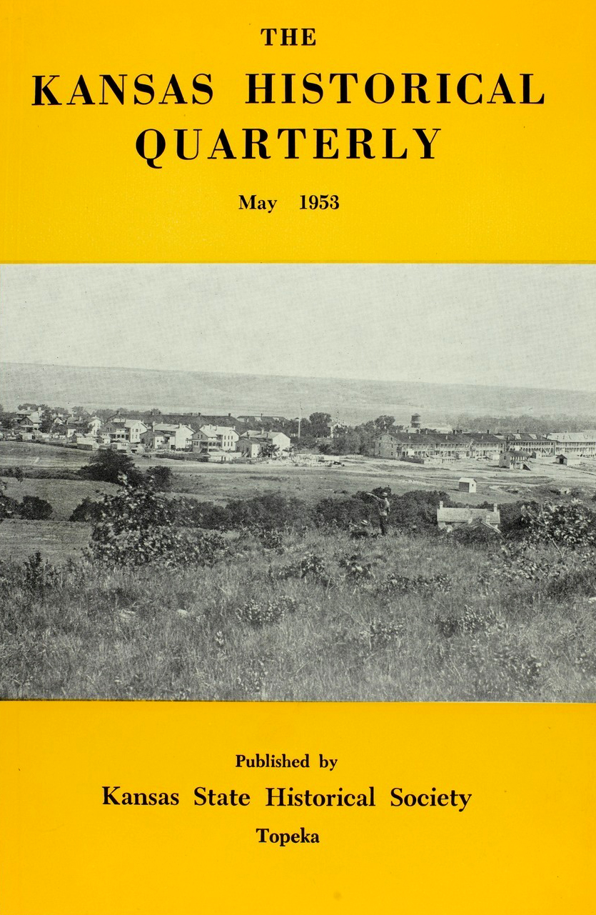 Kansas Historical Quarterly, May 1953