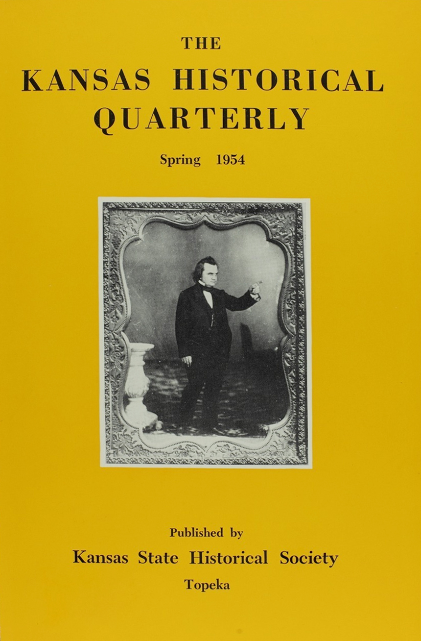 Kansas Historical Quarterly, Spring 1954