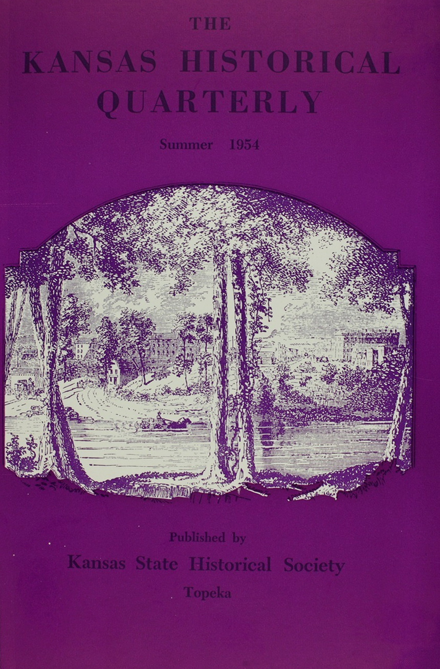 Kansas Historical Quarterly, Summer 1954
