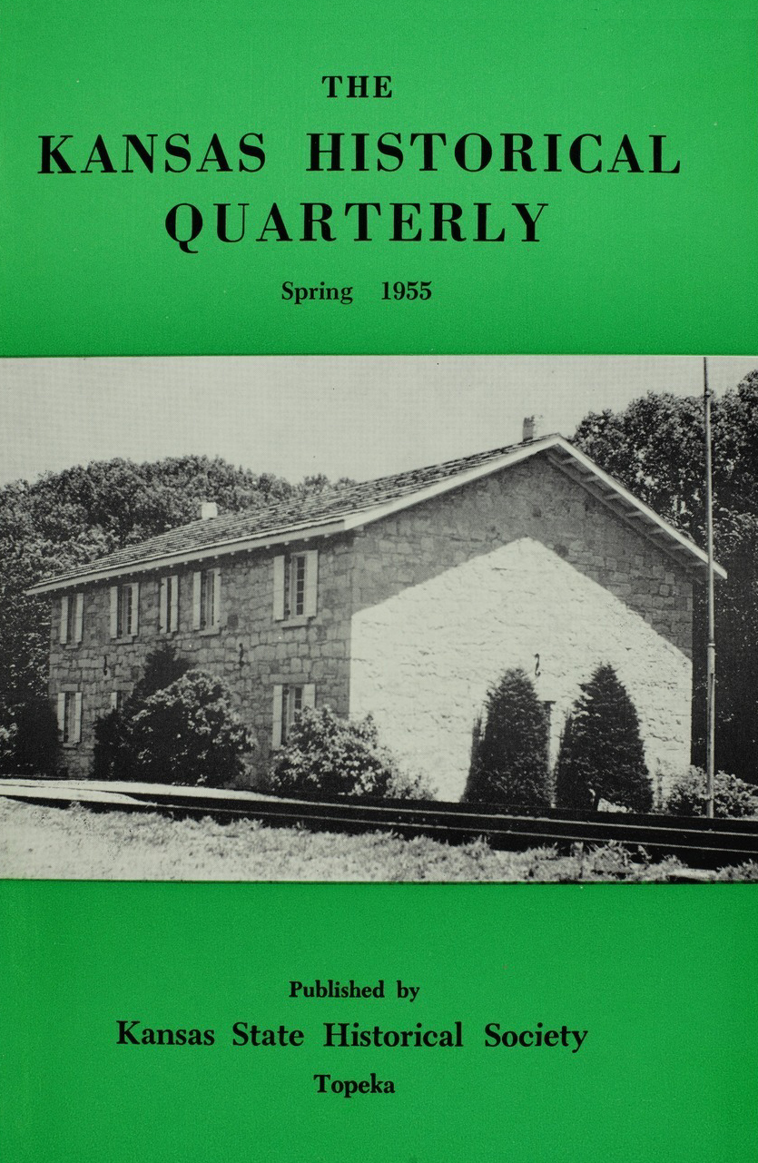 Kansas Historical Quarterly, Spring 1955