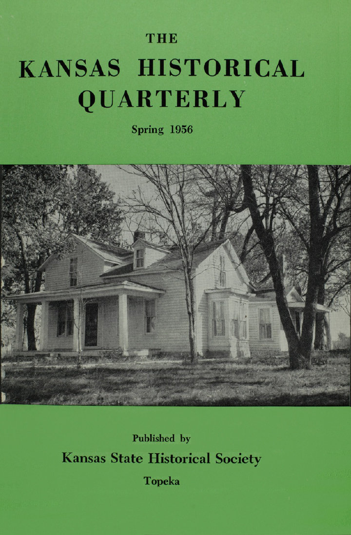 Kansas Historical Quarterly, Spring 1956