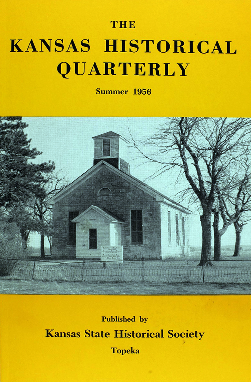 Kansas Historical Quarterly, Summer 1956