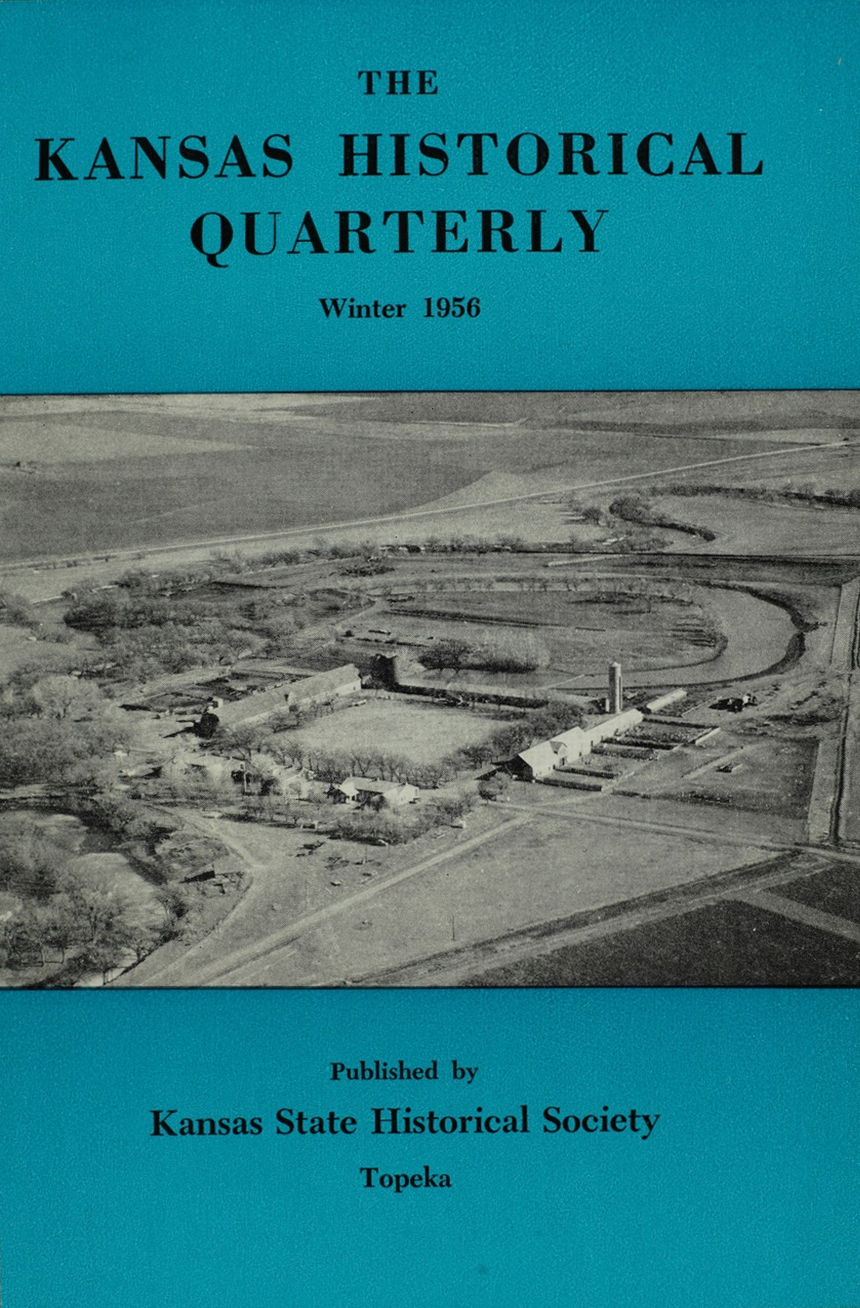 Kansas Historical Quarterly, Winter 1956