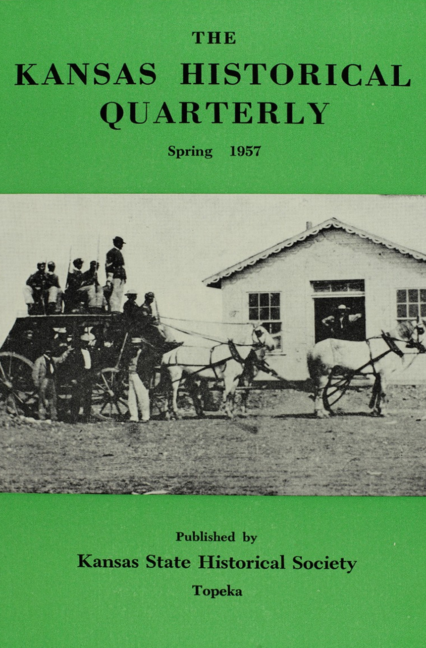 Kansas Historical Quarterly, Spring 1957