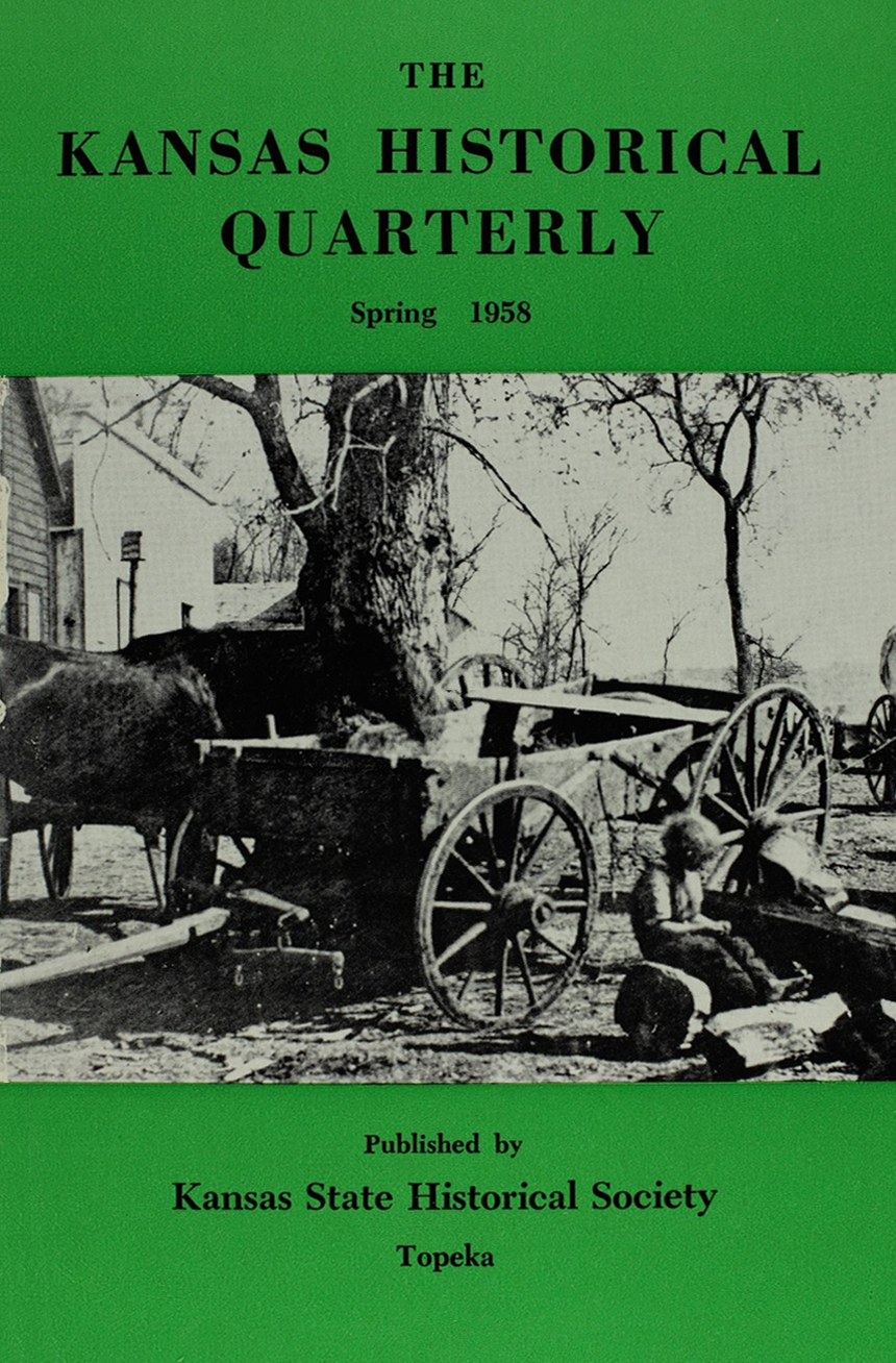 Kansas Historical Quarterly, Spring 1958