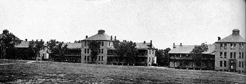 Converted artillery barracks, part of the 3,000-bed base hospital, 1918.