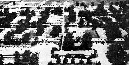 Camp Whitside, World War II cantonment hospital, 1953.